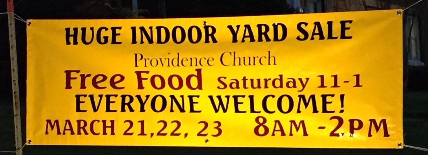 Yard Sale banner 2019